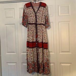 Vici Dolls Button Up Boho Maxi/Kimono